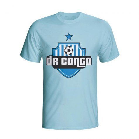 Dr Congo Country Logo T-shirt (sky Blue)