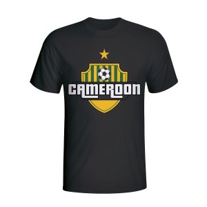 Cameroon Country Logo T-shirt (black)