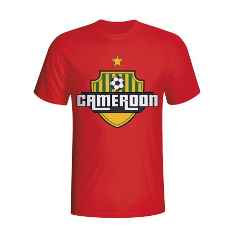Cameroon Country Logo T-shirt (red)