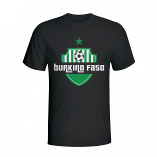 Burkino Faso Country Logo T-shirt (black) - Kids