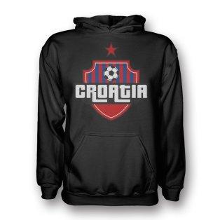 Croatia Country Logo Hoody (black) - Kids