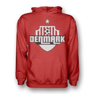 Denmark Country Logo Hoody (red) - Kids