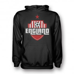 England Country Logo Hoody (black) - Kids