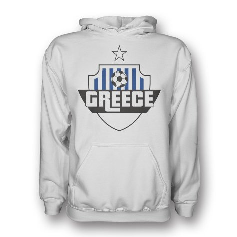 Greece Country Logo Hoody (white) - Kids