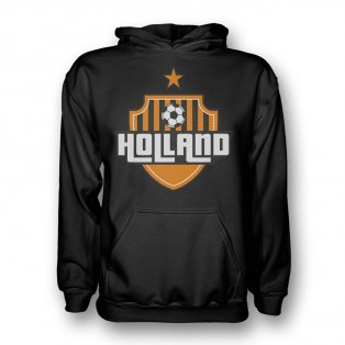 Holland Country Logo Hoody (black) - Kids