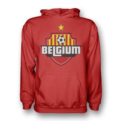 Belgium Country Logo Hoody (red)