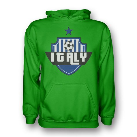 Italy Country Logo Hoody (green) - Kids