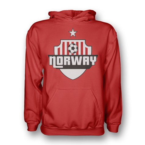 Norway Country Logo Hoody (red) - Kids