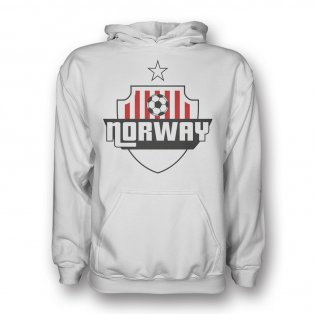 Norway Country Logo Hoody (white) - Kids