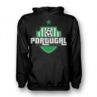 Portugal Country Logo Hoody (black) - Kids