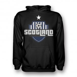 Scotland Country Logo Hoody (black) - Kids