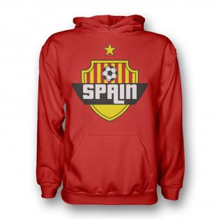 Spain Country Logo Hoody (red) - Kids