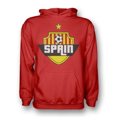 Spain Country Logo Hoody (red)