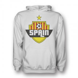 Spain Country Logo Hoody (white) - Kids