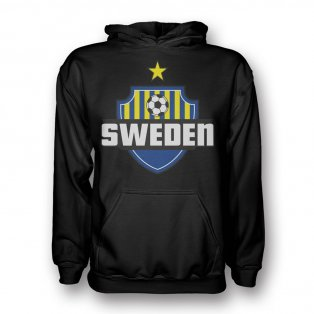 Sweden Country Logo Hoody (black) - Kids