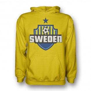 Sweden Country Logo Hoody (yellow) - Kids