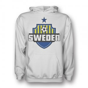 Sweden Country Logo Hoody (white) - Kids