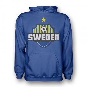 Sweden Country Logo Hoody (blue) - Kids
