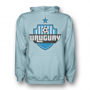 Uruguay Country Logo Hoody (sky Blue) - Kids