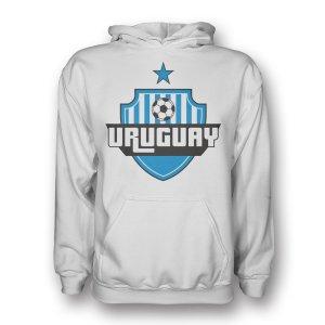 Uruguay Country Logo Hoody (white)