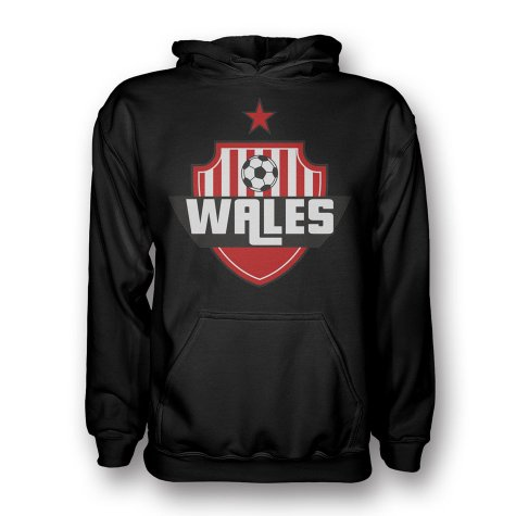 Wales Country Logo Hoody (black)