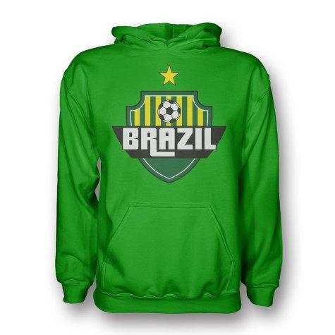 Brazil Country Logo Hoody (green)