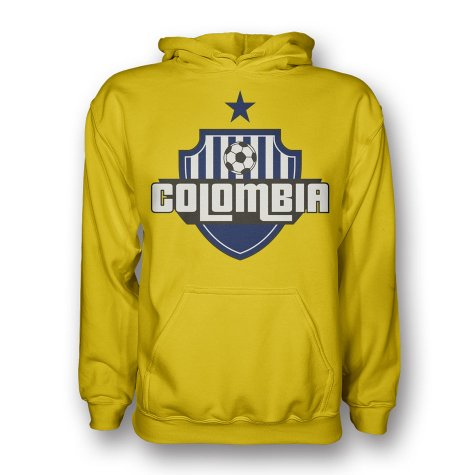 Colombia Country Logo Hoody (yellow) - Kids