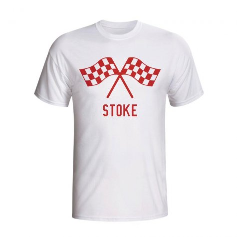 Stoke Waving Flags T-shirt (white)