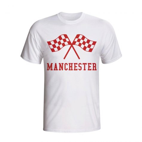 Man Utd Waving Flags T-shirt (white) - Kids