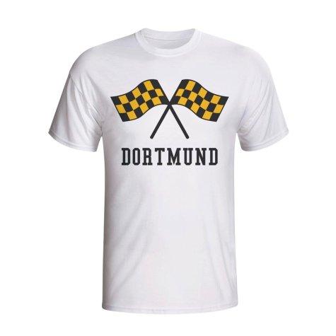 Borussia Dortmund Waving Flags T-shirt (white)