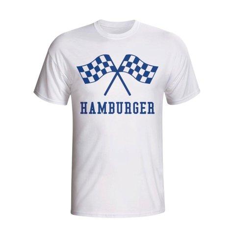 Hamburg Waving Flags T-shirt (white)