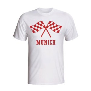Bayern Munich Waving Flags T-shirt (white) - Kids