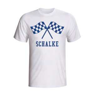 Schalke Waving Flags T-shirt (white) - Kids