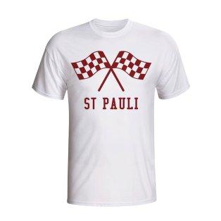 St Pauli Waving Flags T-shirt (white) - Kids