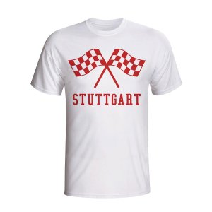 Stuttgart Waving Flags T-shirt (white) - Kids