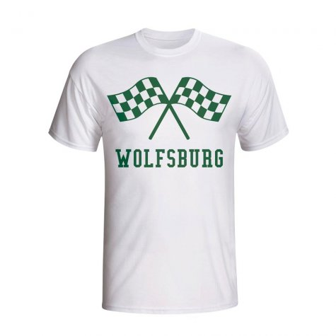 Vfl Wolfsburg Waving Flags T-shirt (white) - Kids