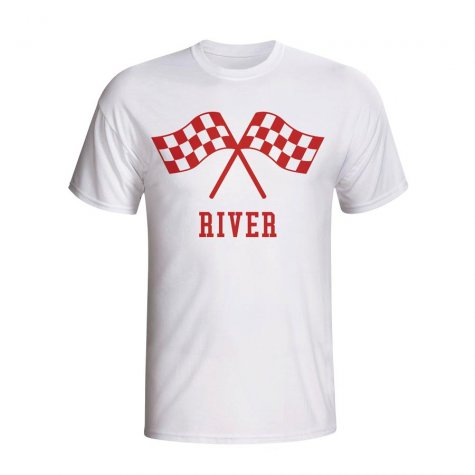 River Plate Waving Flags T-shirt (white)