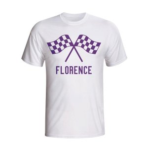 Fiorentina Waving Flags T-shirt (white) - Kids