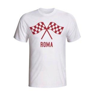 Roma Waving Flags T-shirt (white) - Kids