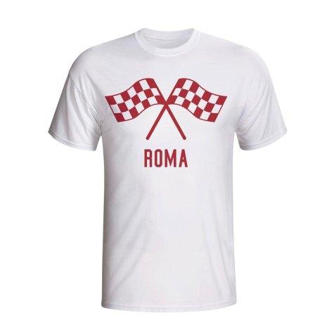 Roma Waving Flags T-shirt (white)