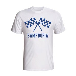 Sampdoria Waving Flags T-shirt (white) - Kids