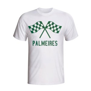 Palmeiras Waving Flags T-shirt (white)