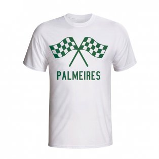 Palmeiras Waving Flags T-shirt (white) - Kids