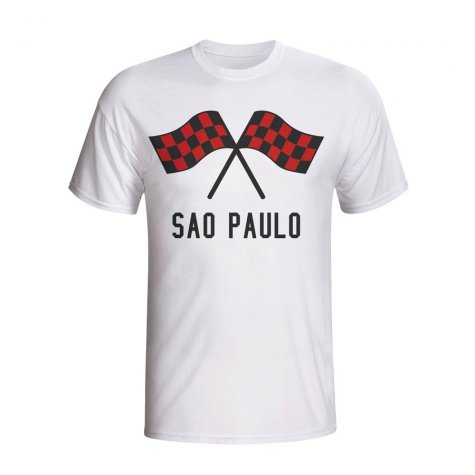 Sao Paolo Waving Flags T-shirt (white) - Kids