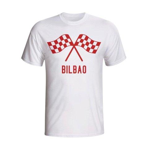 Athletic Bilbao Waving Flags T-shirt (white)