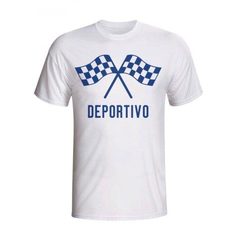 Deportivo Waving Flags T-shirt (white)