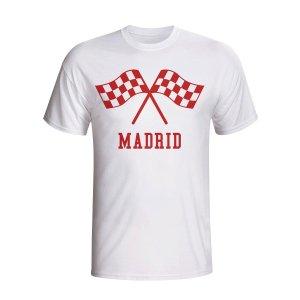 Atletico Madrid Waving Flags T-shirt (white)