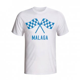 Malaga Waving Flags T-shirt (white) - Kids