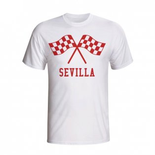 Sevilla Waving Flags T-shirt (white) - Kids