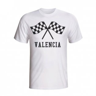 Valencia Waving Flags T-shirt (white) - Kids